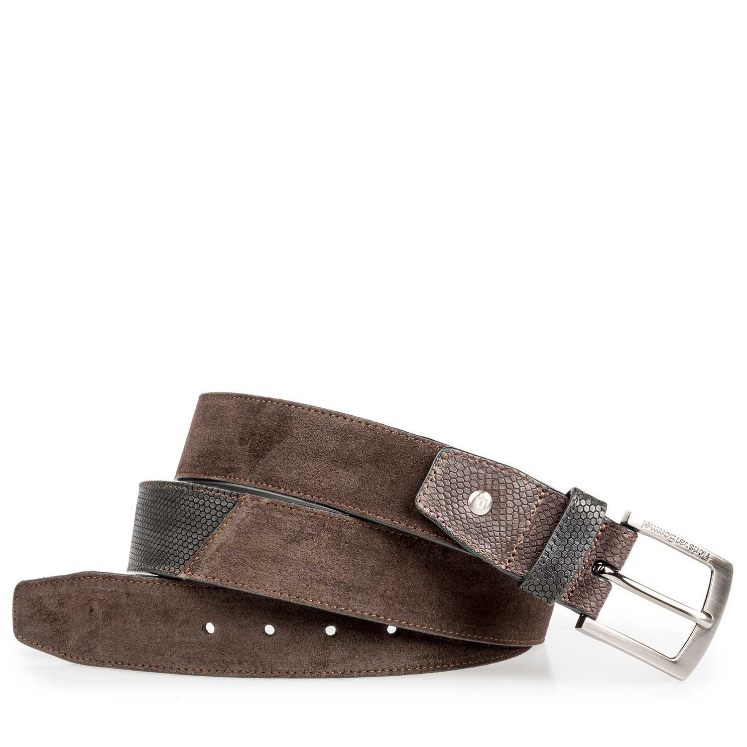 75161/14 - Brown suede leather belt