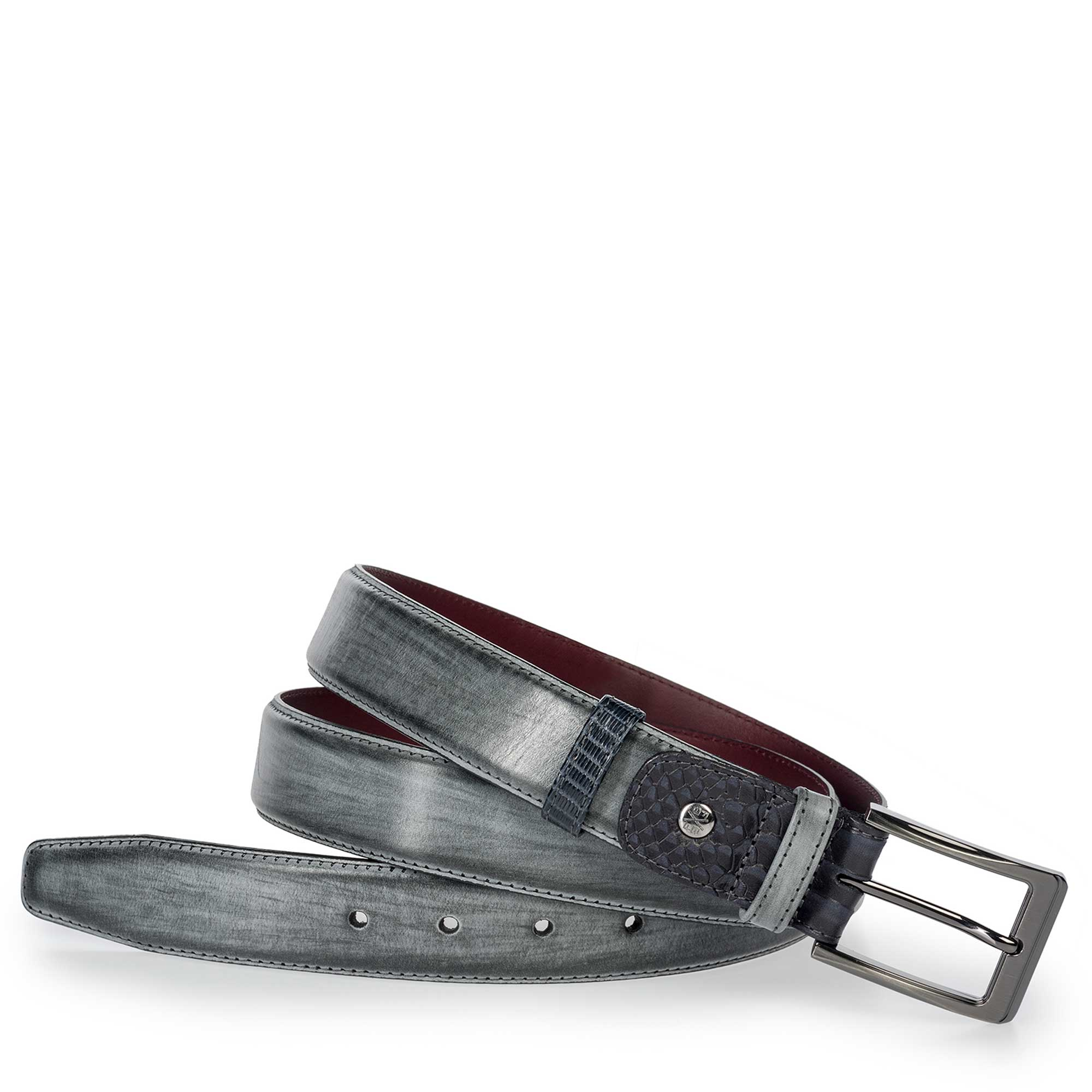 75160/01 - Anthracite grey leather belt