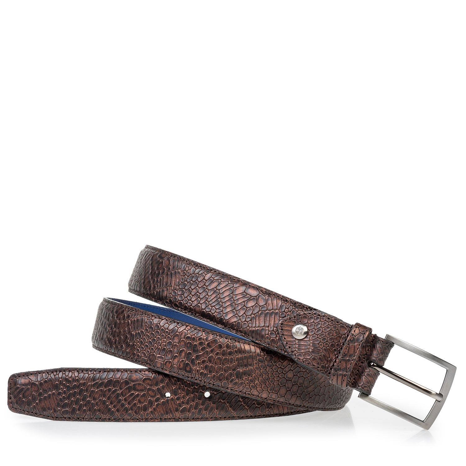 75203/43 - Leather belt metallic red
