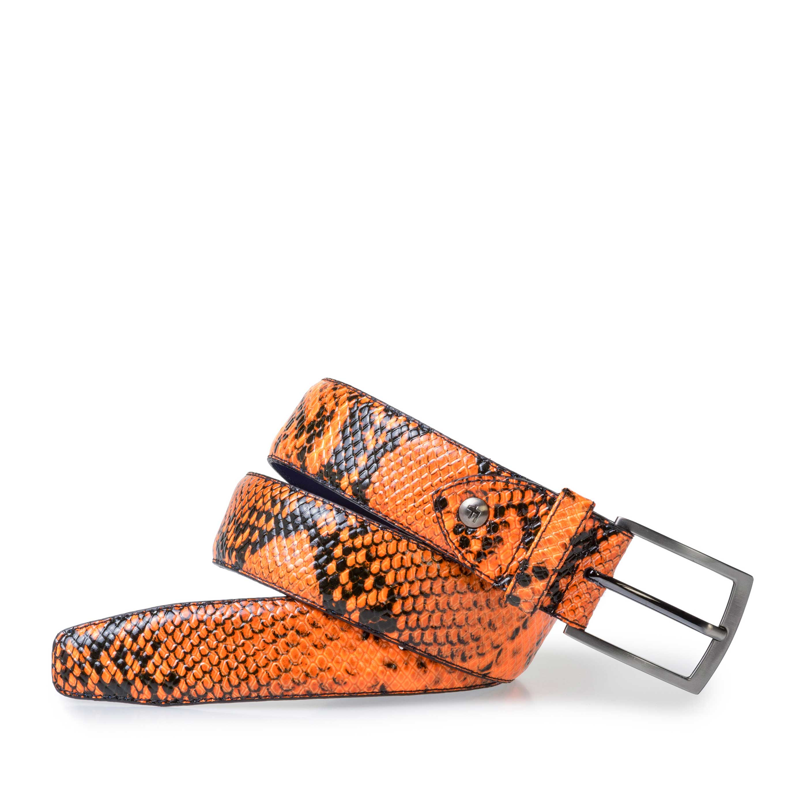 75201/62 - Premium fluorescent orange belt with print