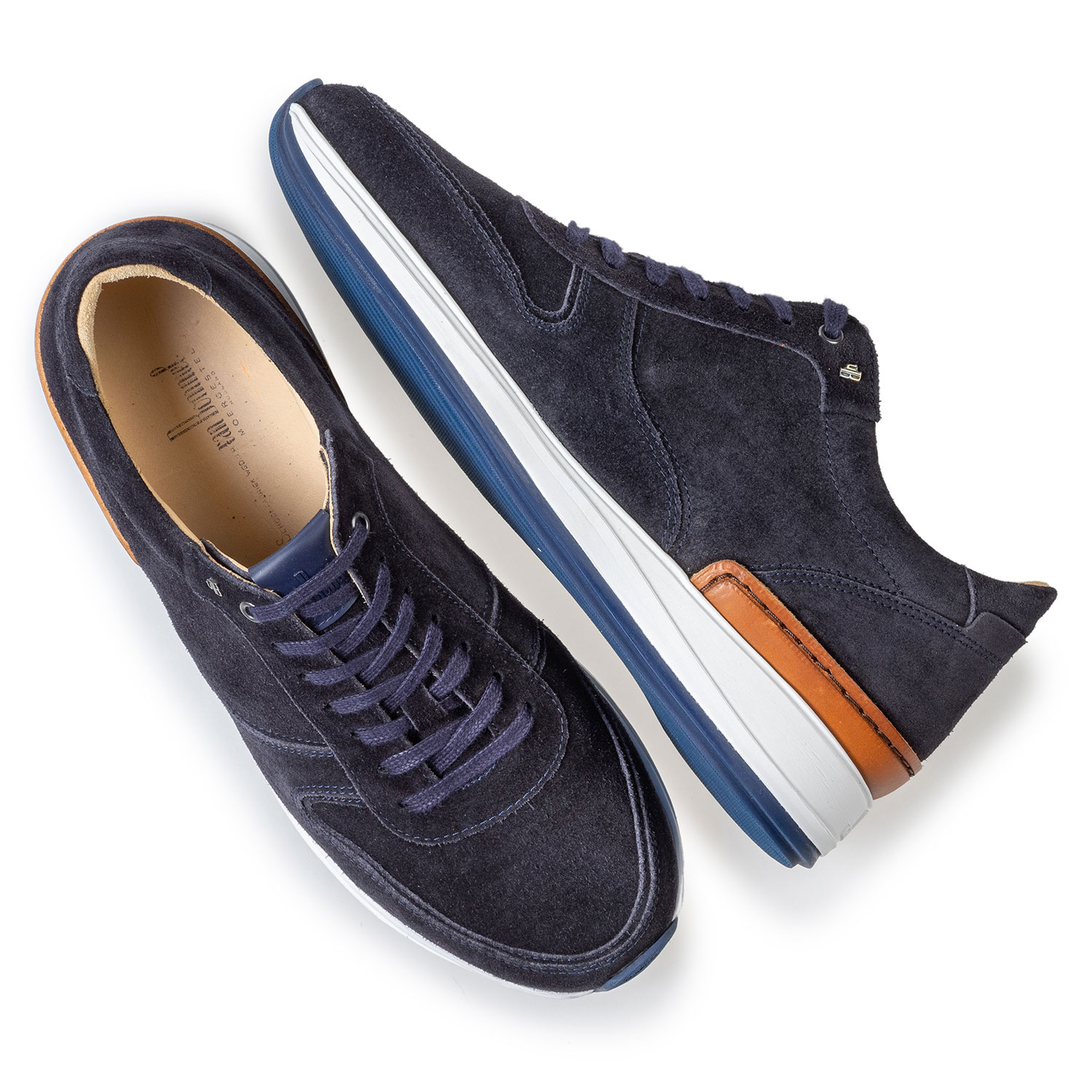 16334/04 - Sneaker dark blue suede leather