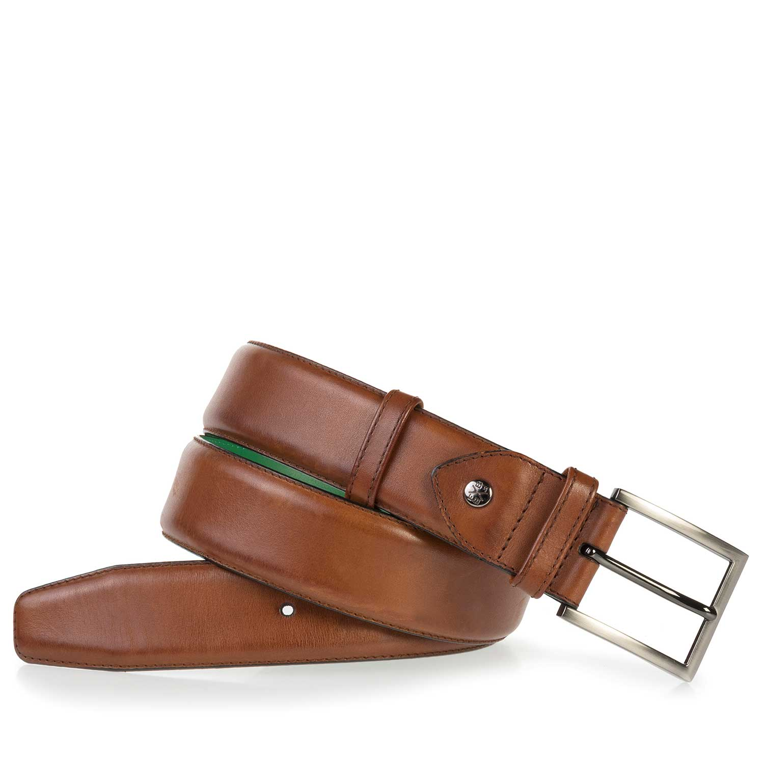 75178/00 - Cognac-coloured leather belt