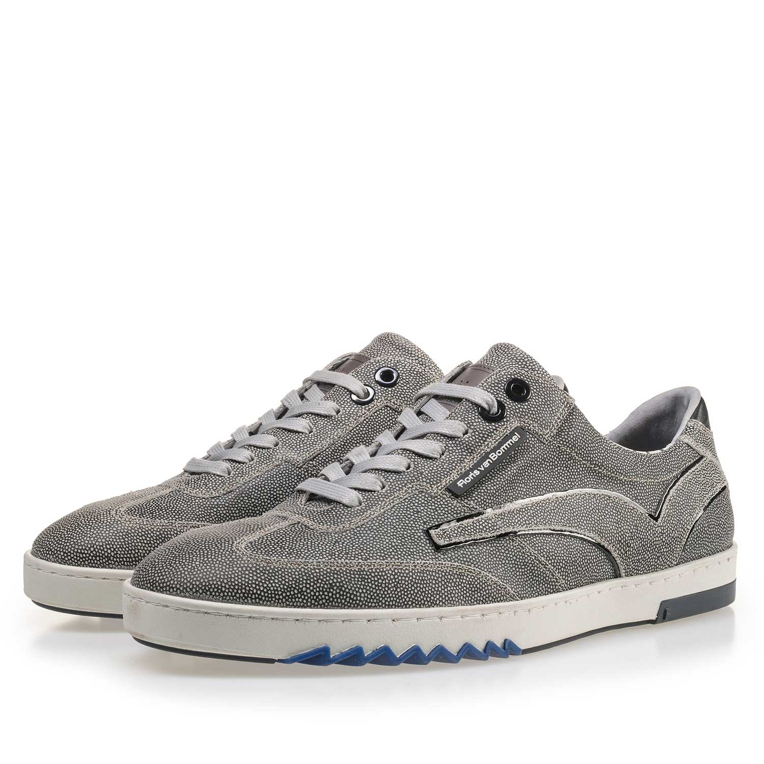 16074/28 - Grey suede leather sneaker