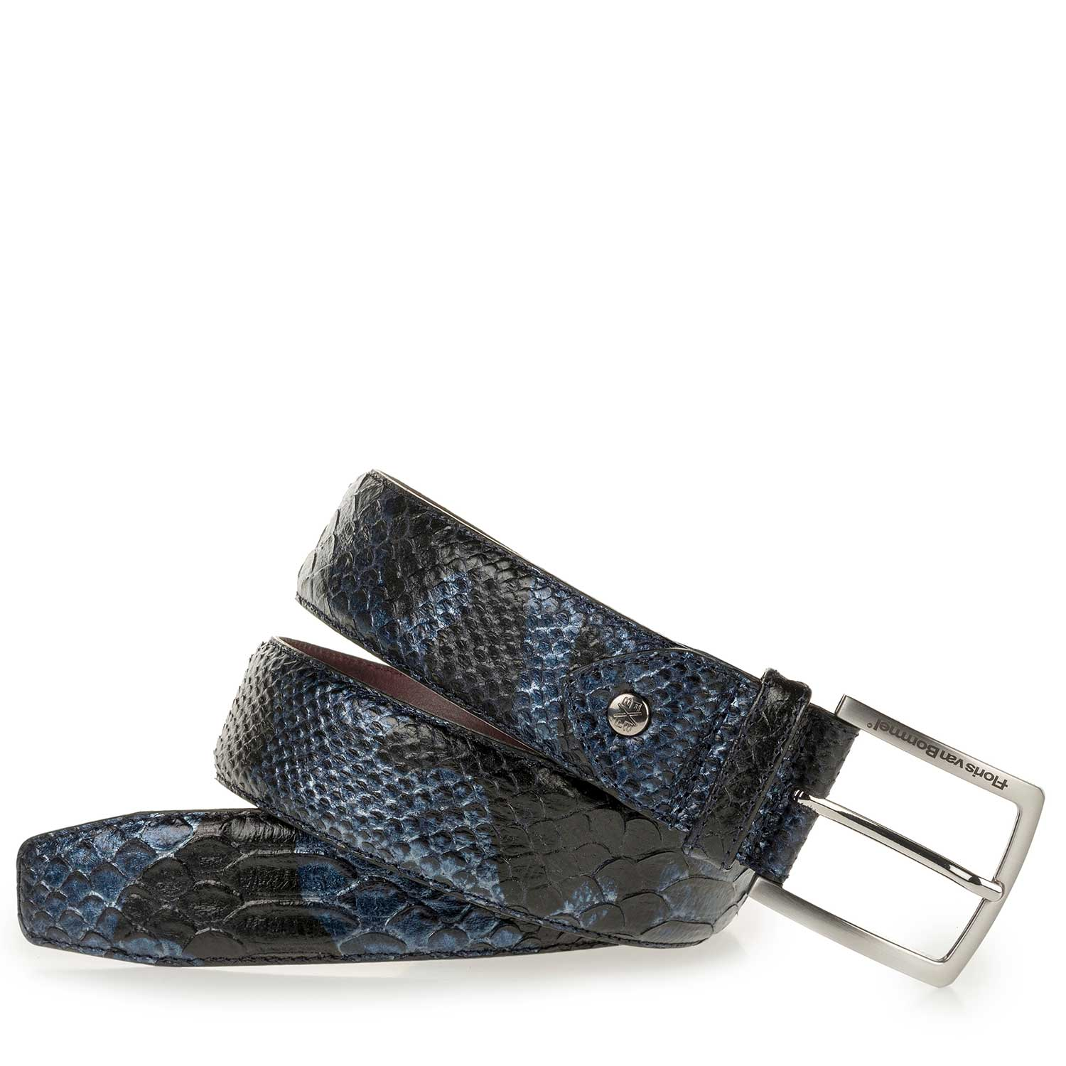 75189/37 - Blue belt with snake print