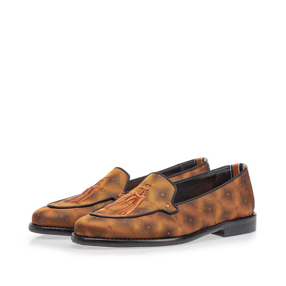 85426/04 - Loafer brown textile with print