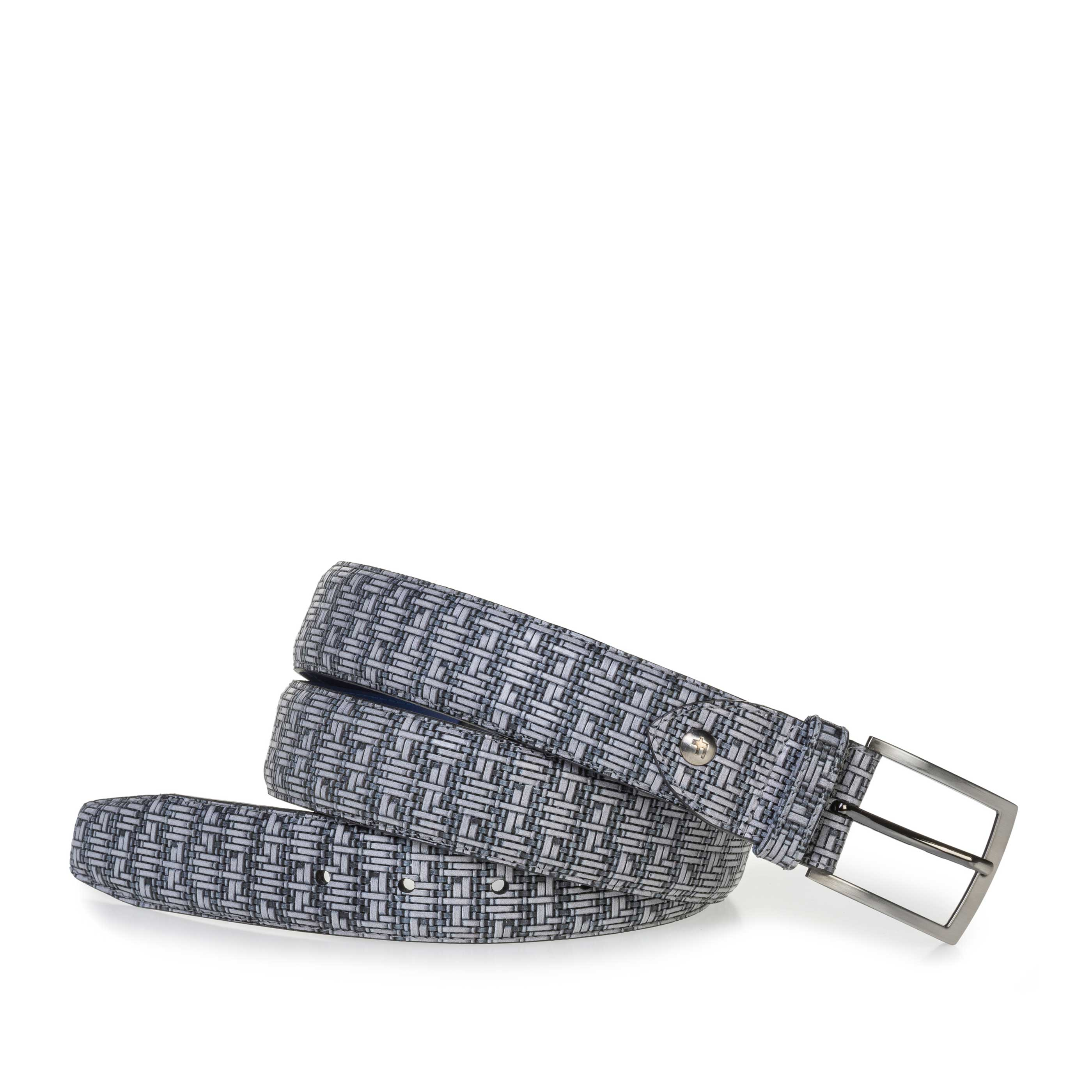 75200/70 - Grey belt with a black graphic print