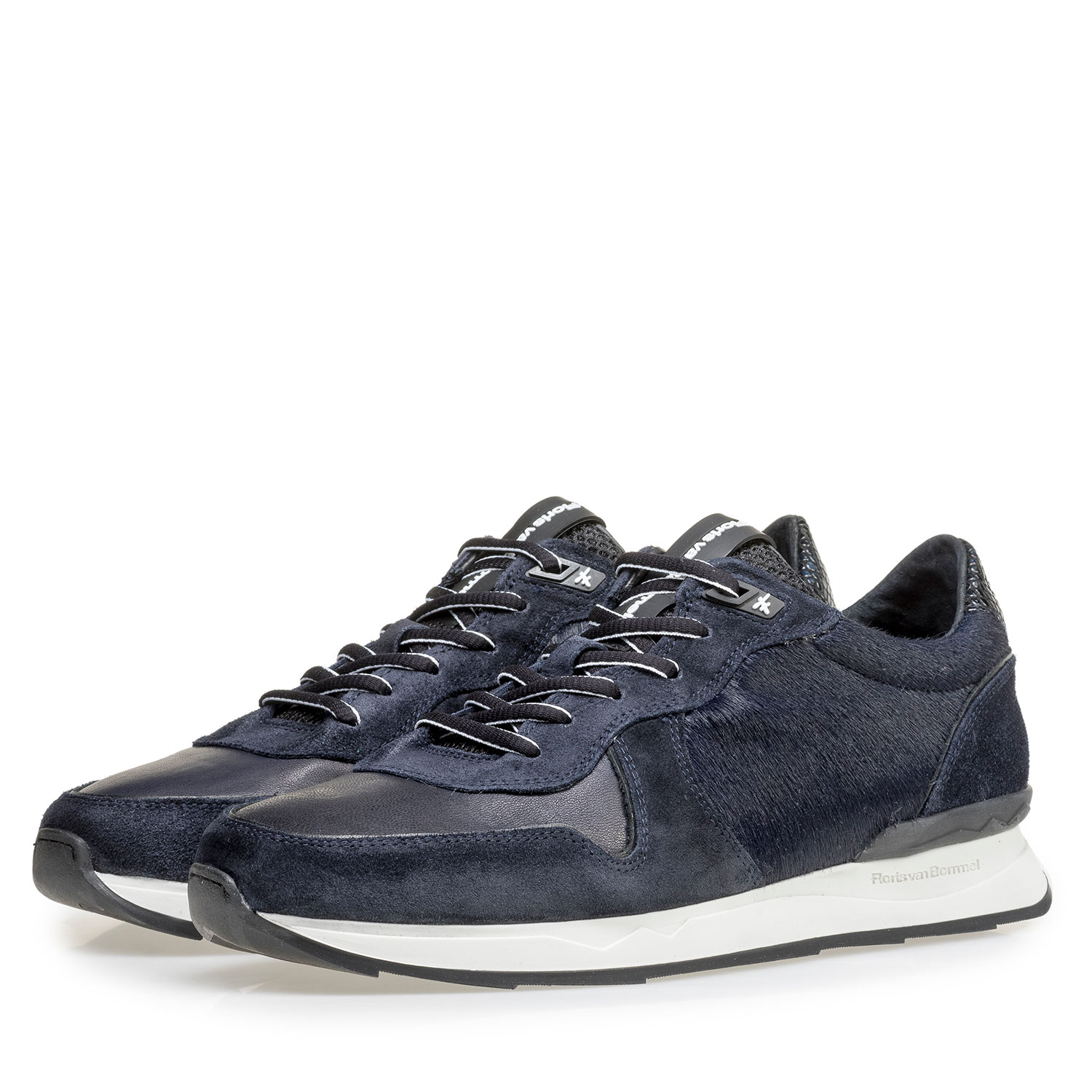 16291/07 - Blue suede leather sneaker