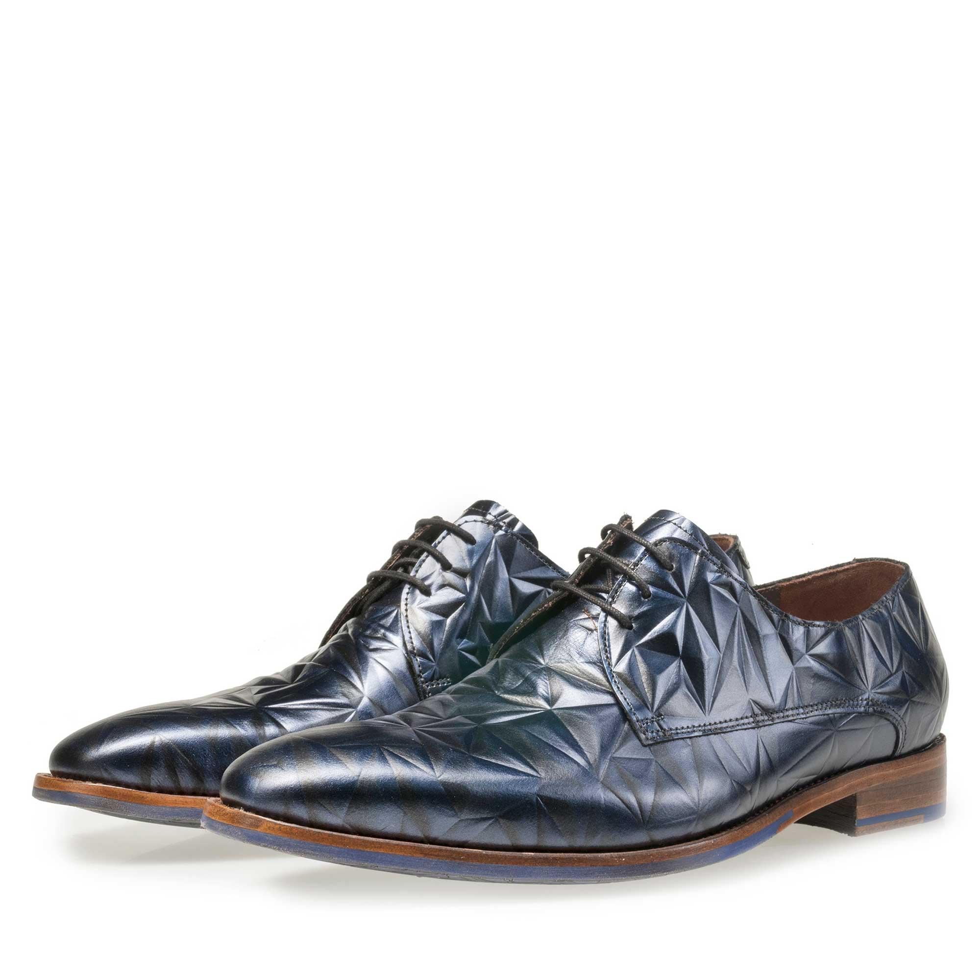 Chaussures Floris Van Bommel Avec Impression Bleu 3d gOfv3M