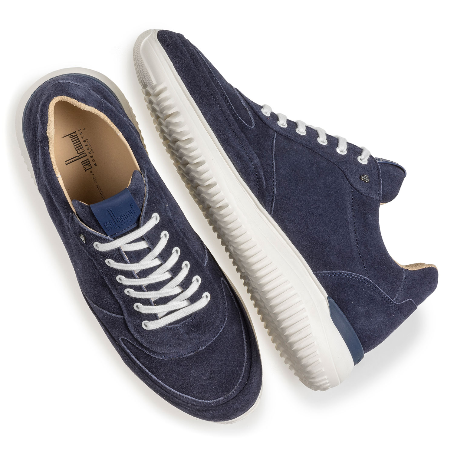 16302/08 - Blue suede leather sneaker