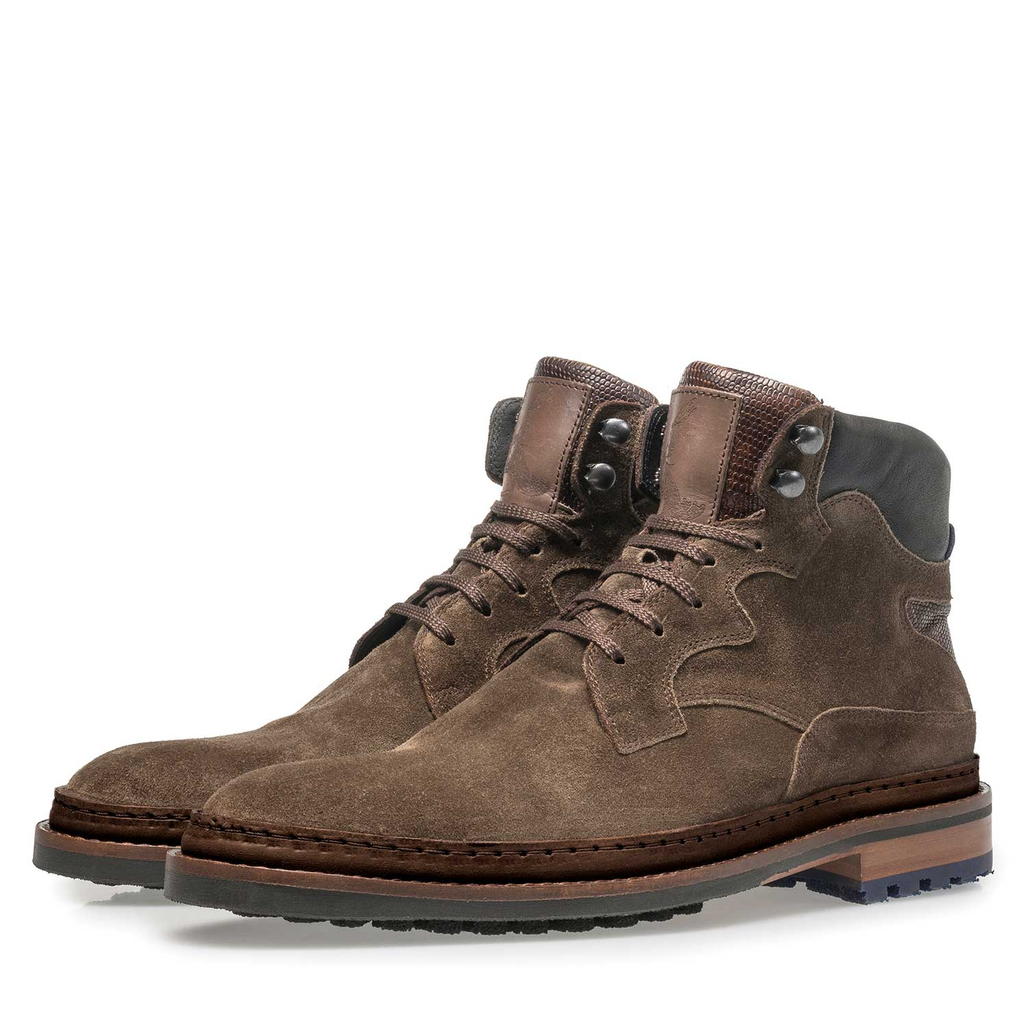 10503/01 - Suède veterboot donker taupe