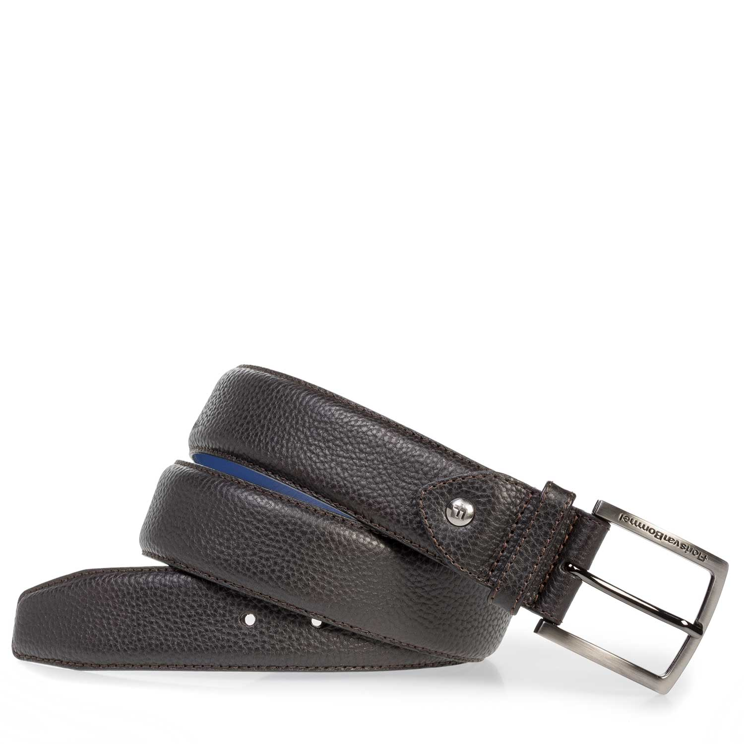 75202/09 - Black leather belt with structure