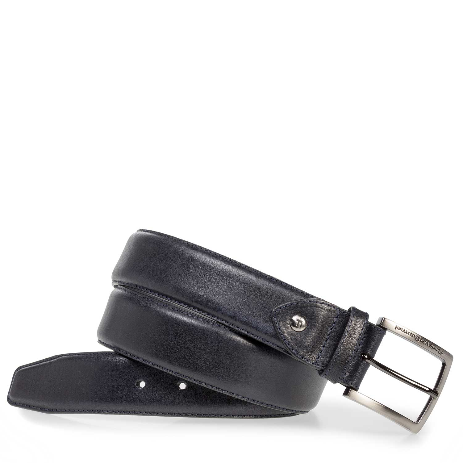 75202/36 - Dark blue calf leather belt