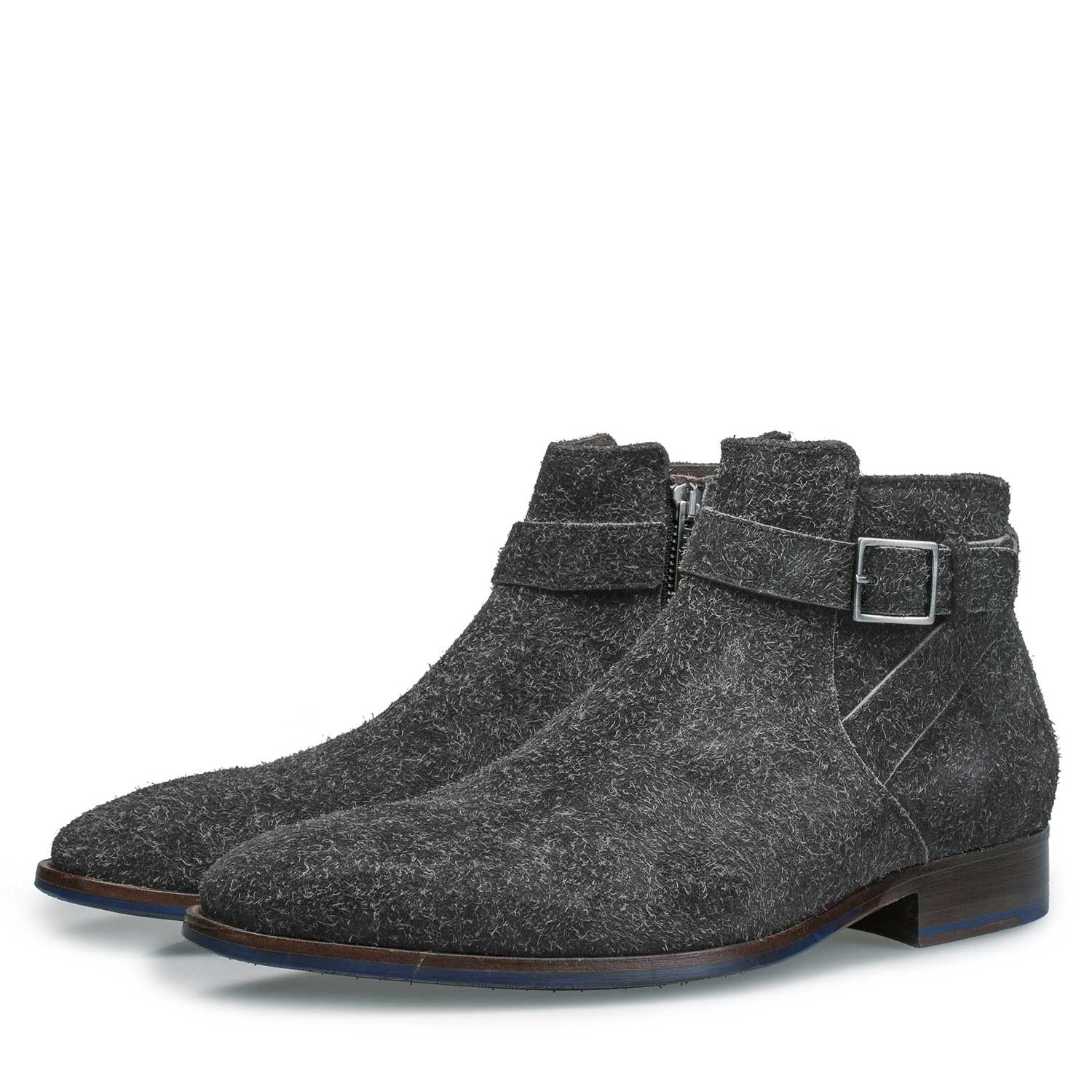 10422/02 - Grey rough suede leather ankle boot