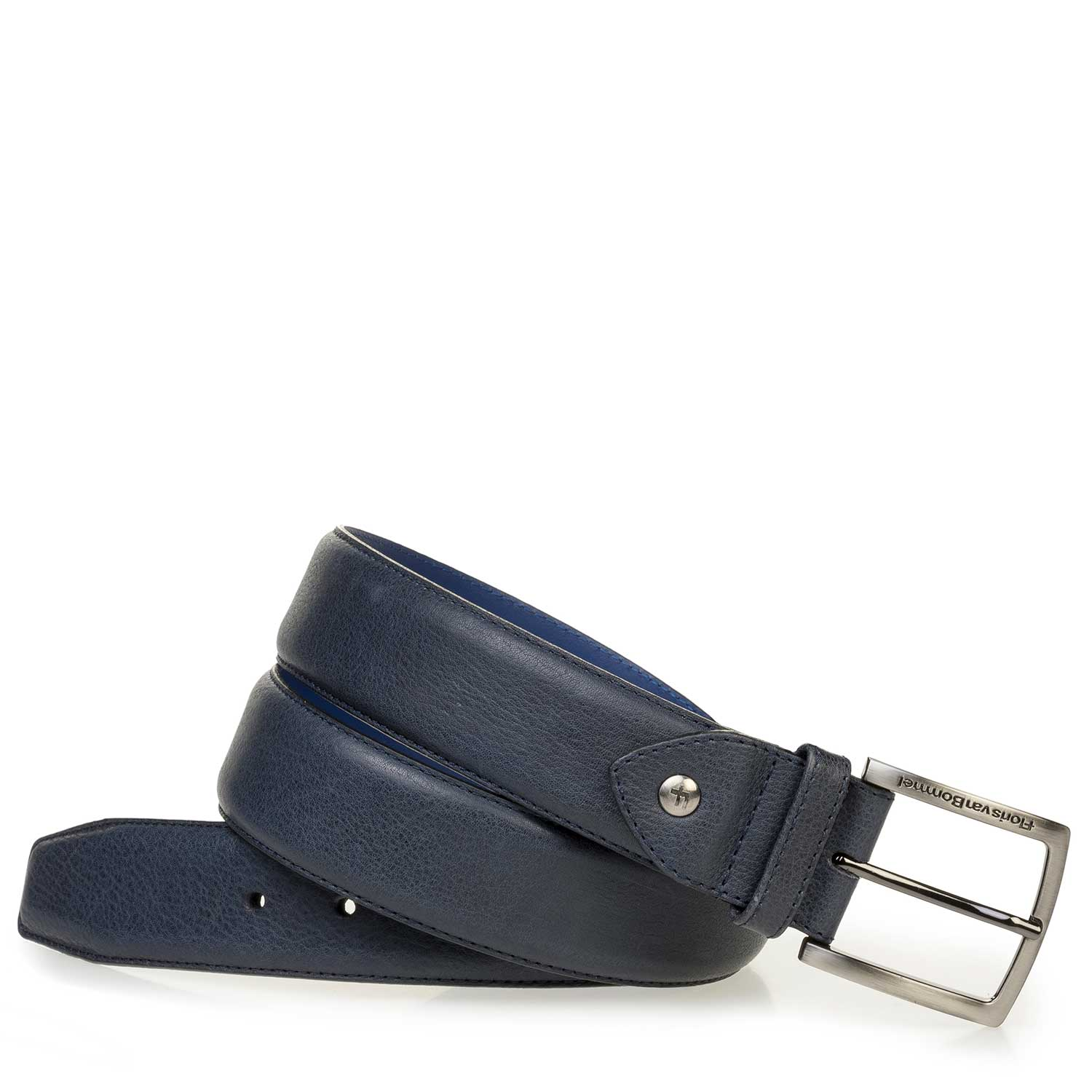 75189/62 - Blue nubuck leather belt