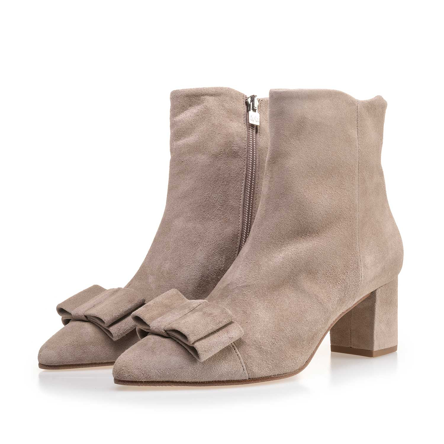 85187/04 - Taupe-coloured calf's suede leather ankle boot
