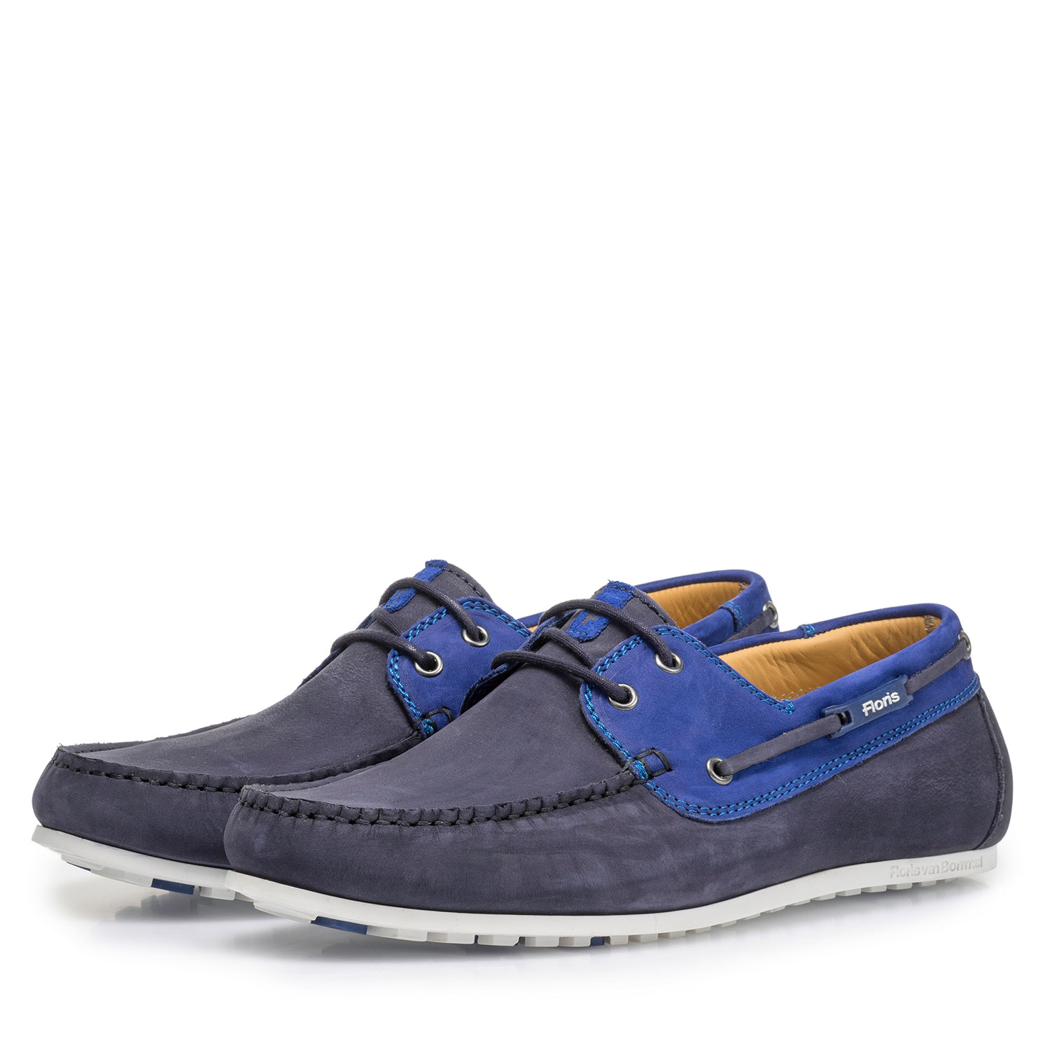 15035/12 - Blue nubuck leather boat shoe