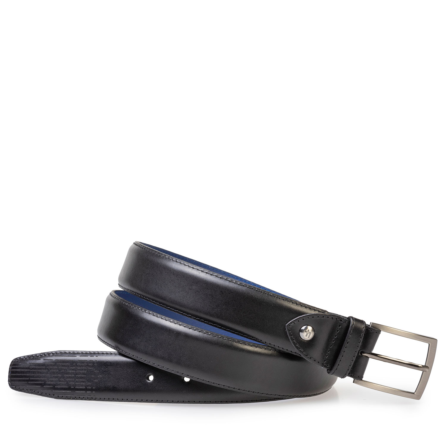 75214/02 - Black leather belt