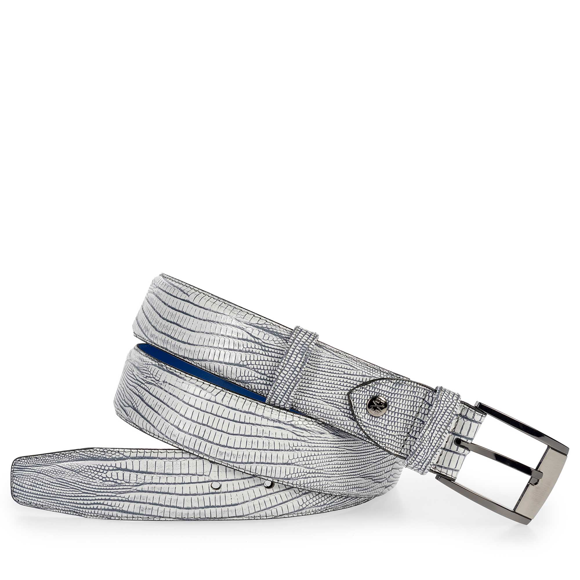 75180/31 - Leather belt with a lizard print