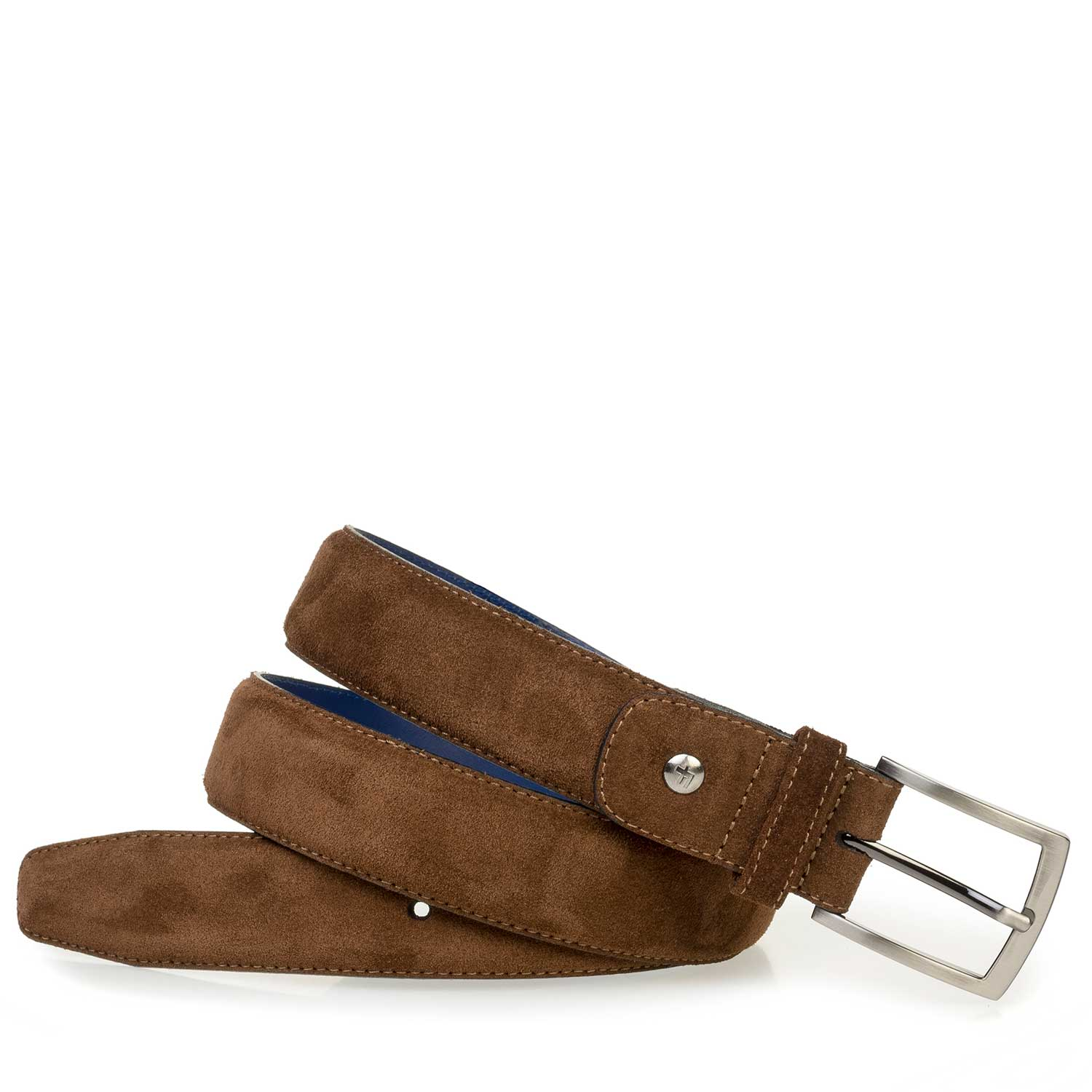 75153/25 - Brown calf suede leather belt