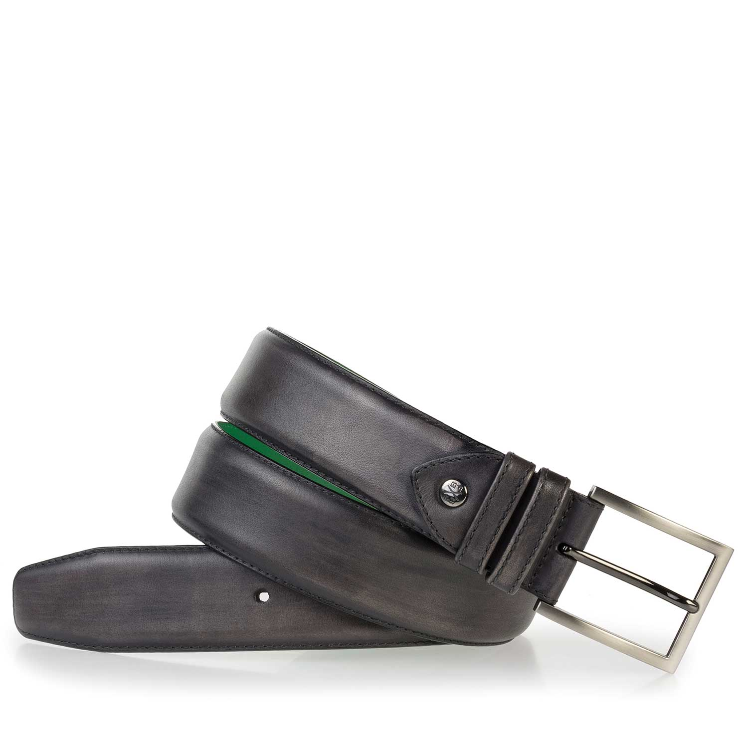 75178/03 - Anthracite grey leather belt