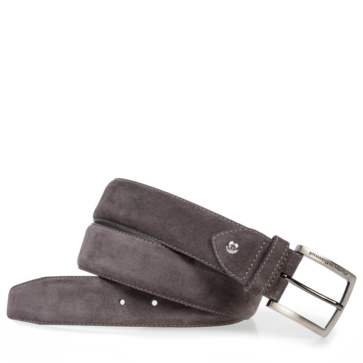 75202/06 - Anthracite and brown suede leather belt