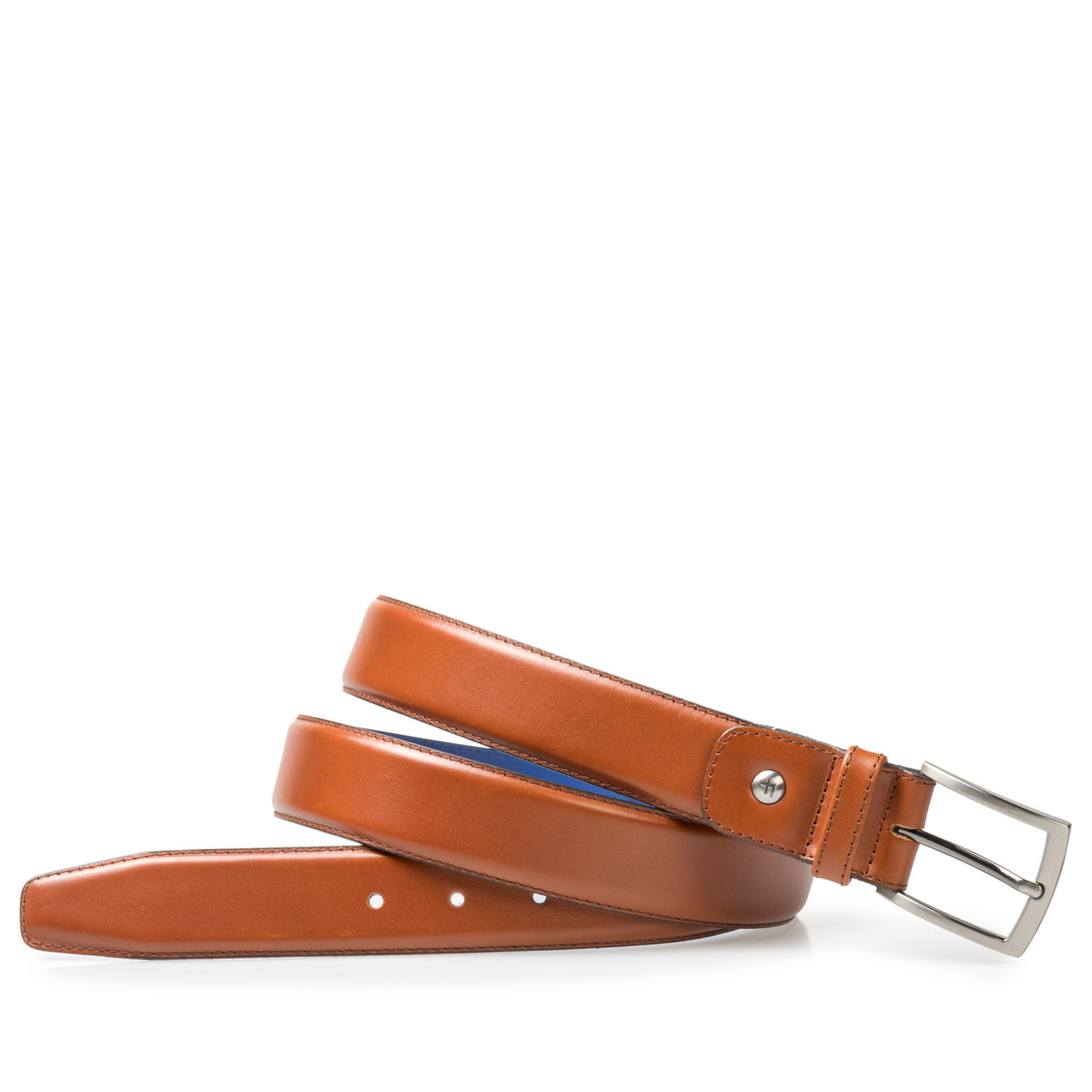 75046/00 - Dark cognac-coloured leather belt