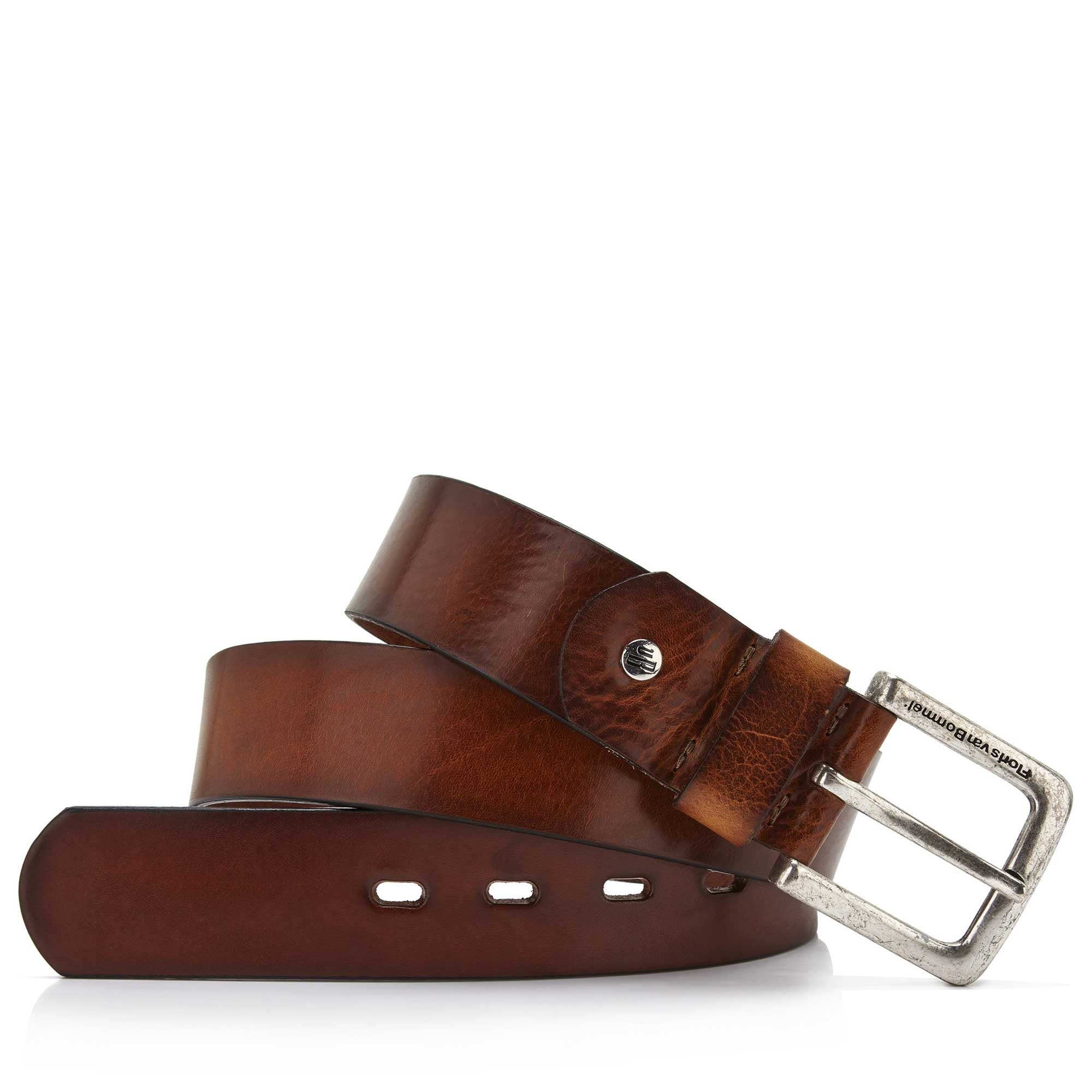 75045/00 - Floris van Bommel medium brown leather men's belt