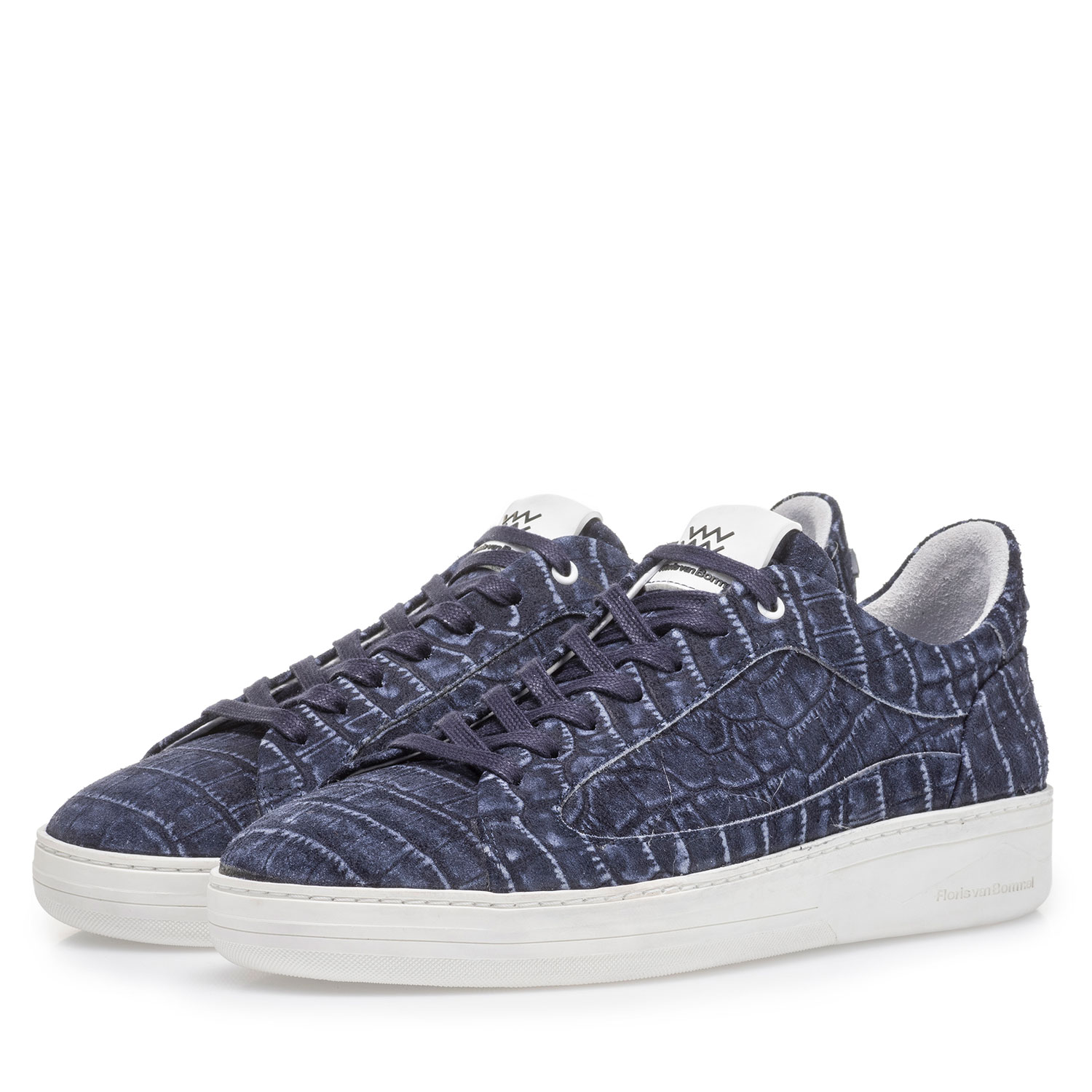 13265/07 - Dark blue sneaker with croco print