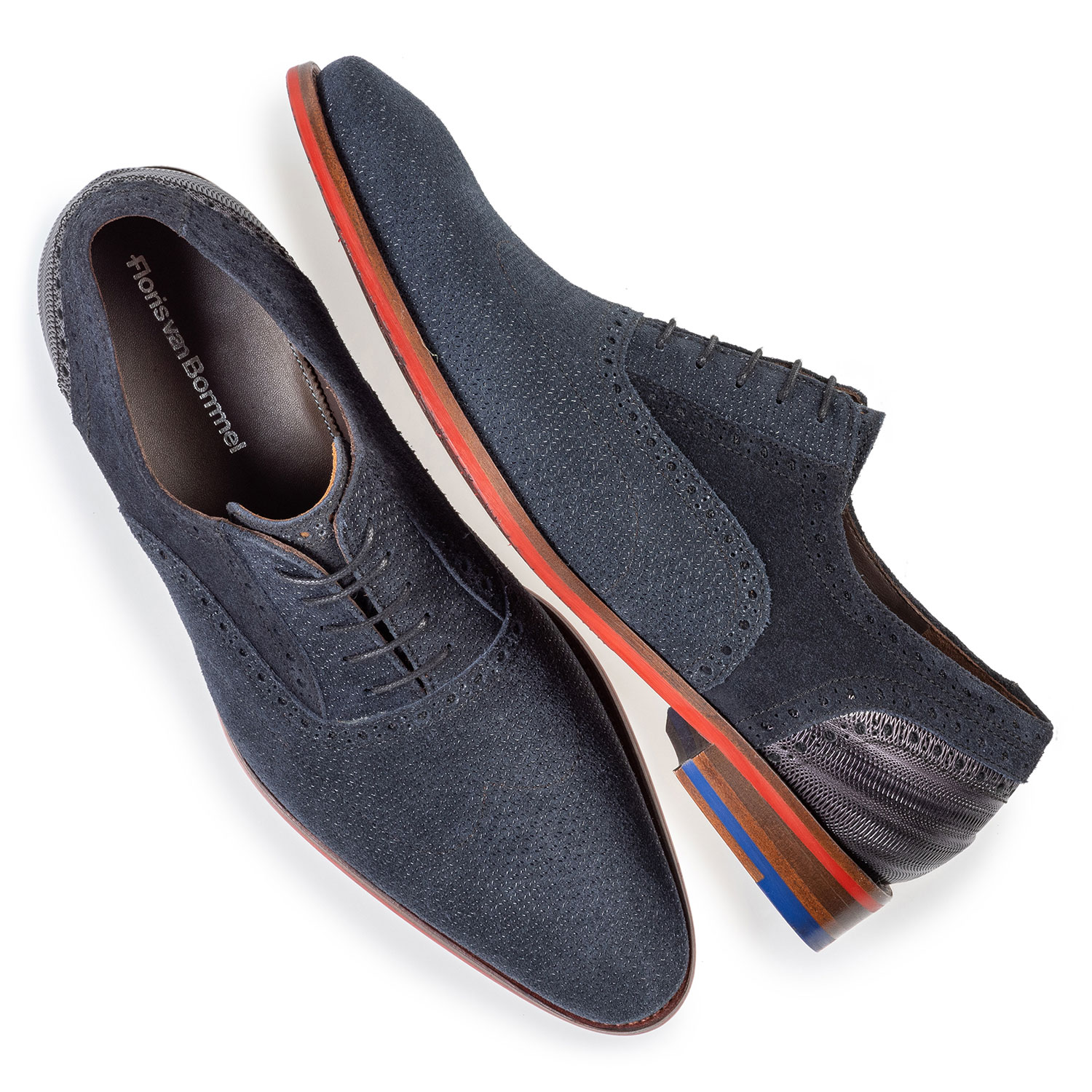 19109/06 - Lace shoe dark blue with print