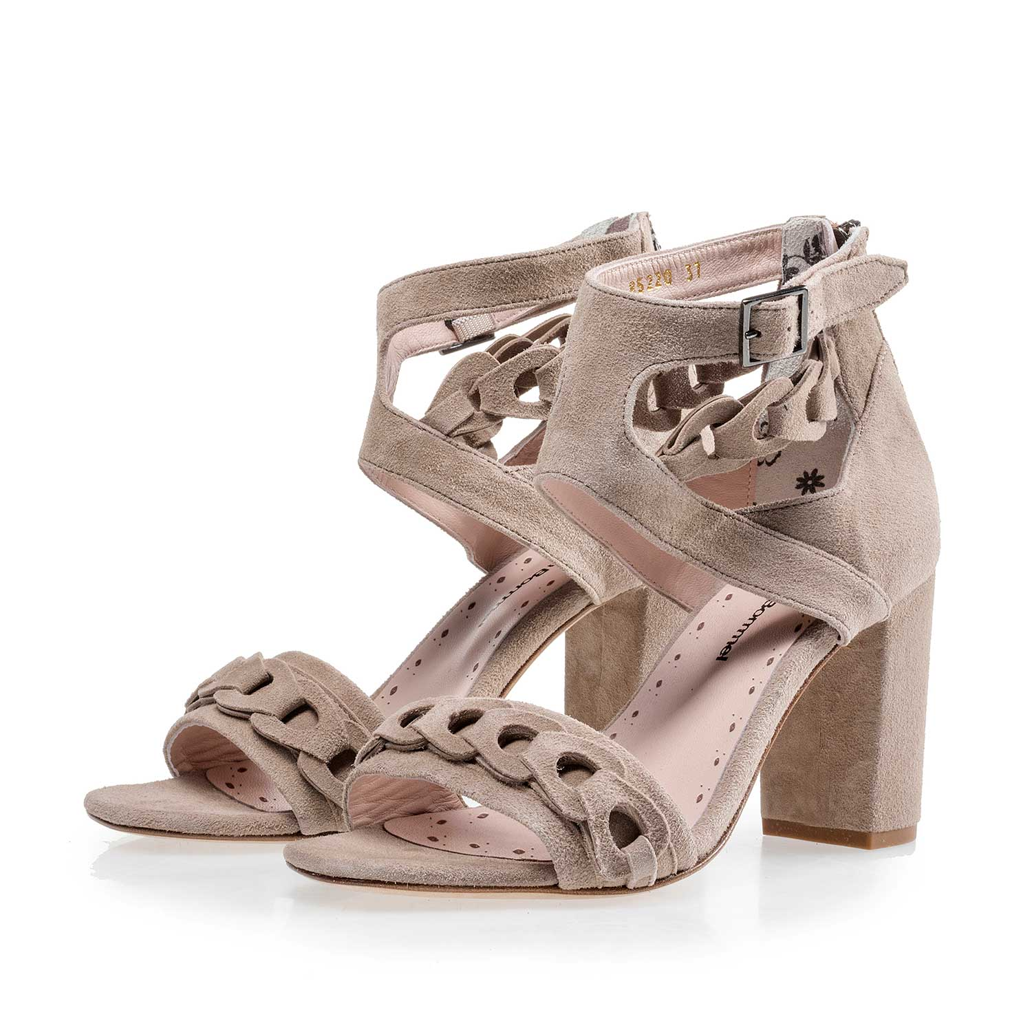 85220/01 - Taupe-coloured calf's suede leather sandal