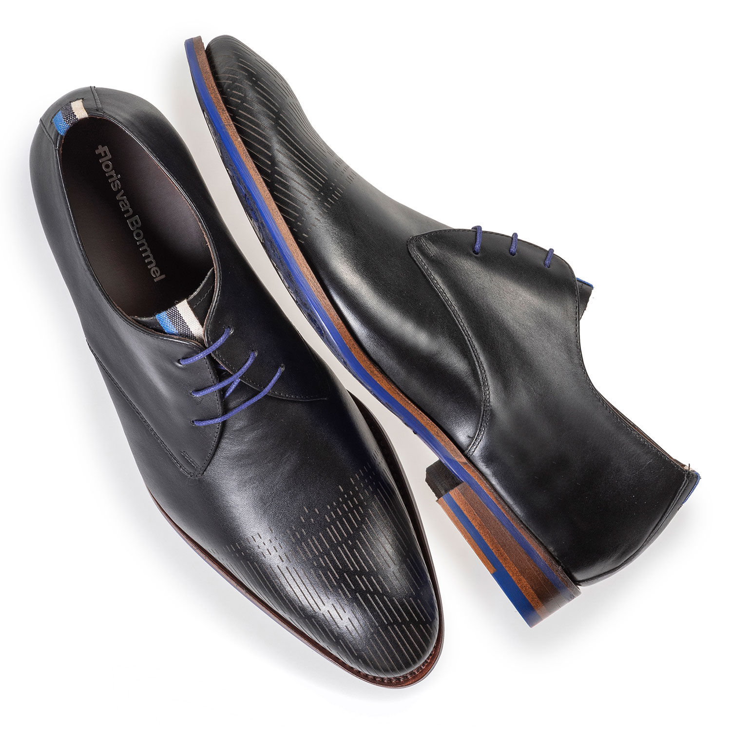 18276/02 - Black calf leather lace shoe