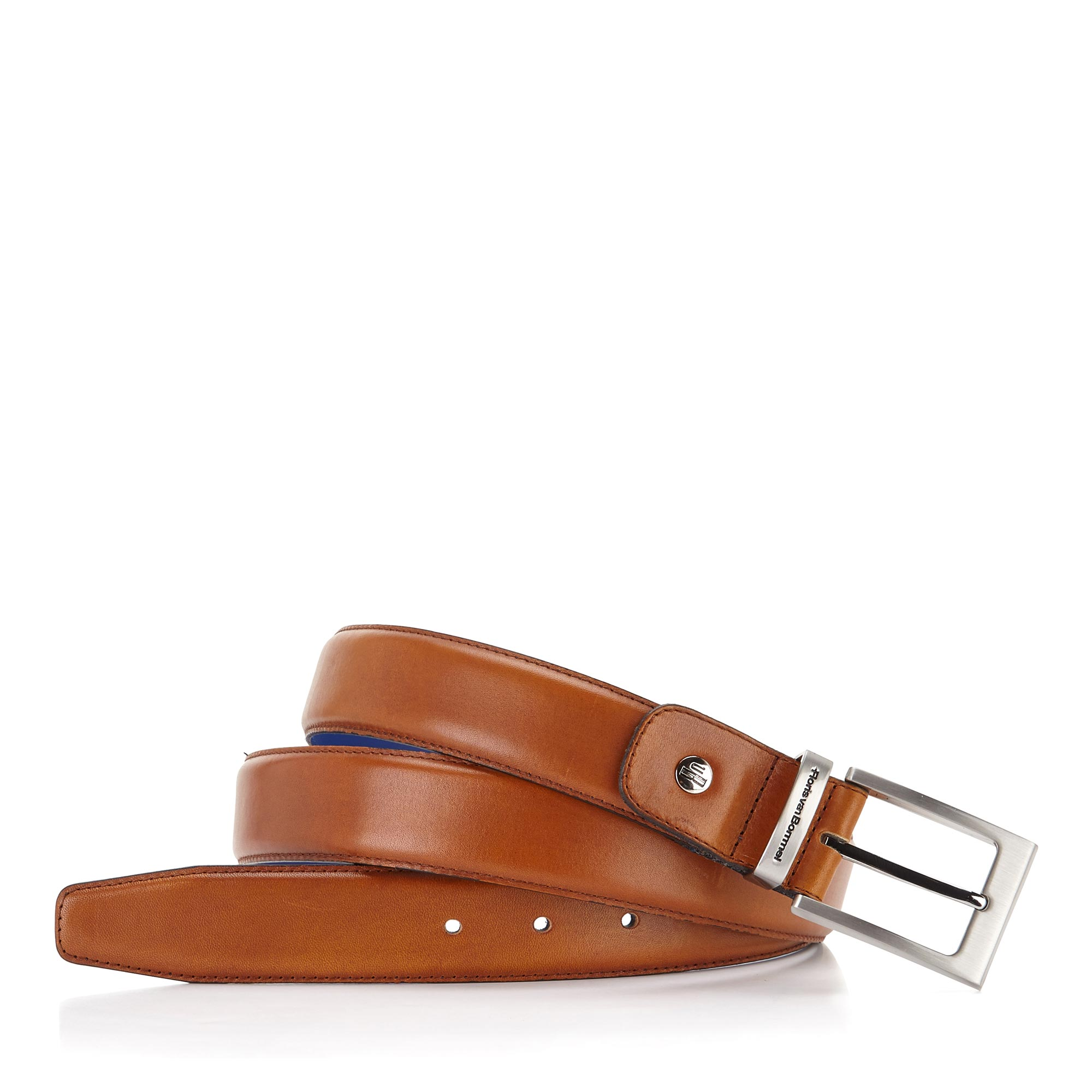75046/02 - Floris van Bommel cognac leather men's belt