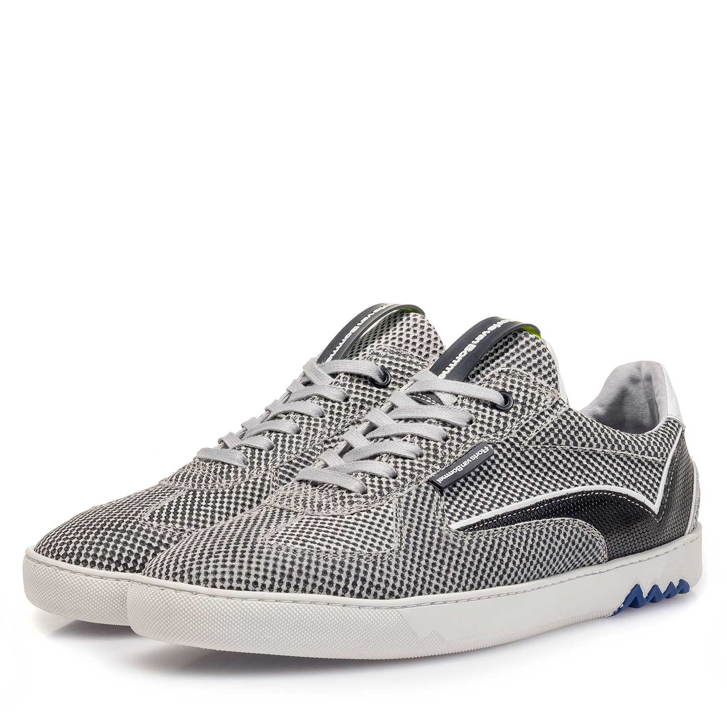 16342/00 - Grey suede leather sneaker with a print